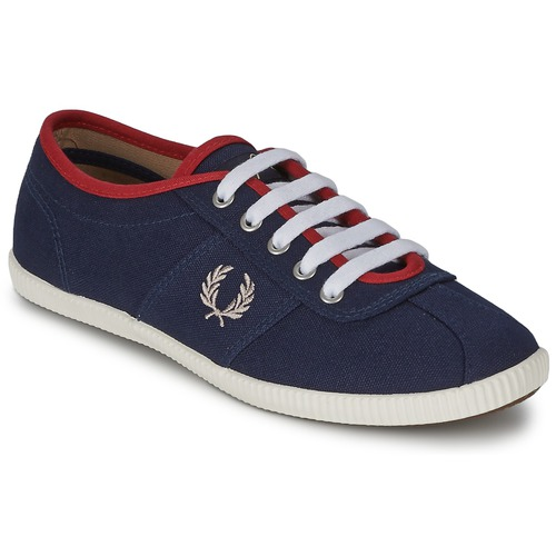 Baskets mode Fred Perry HAYES CANVAS Bleu 350x350