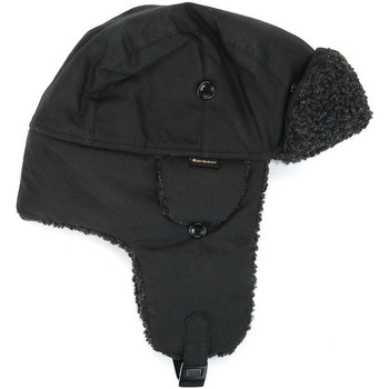 Accessoires textile Homme Bonnets Barbour Mens Black Fleeced Lined Trapper Hat Barbour_19A