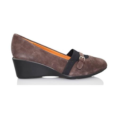 Chaussures Femme Escarpins Geox Taylor coin mocassin BRUN