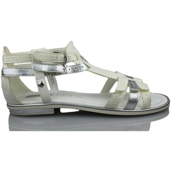 Chaussures Fille Sandales et Nu-pieds Geox GIGLIO GBK BLANC
