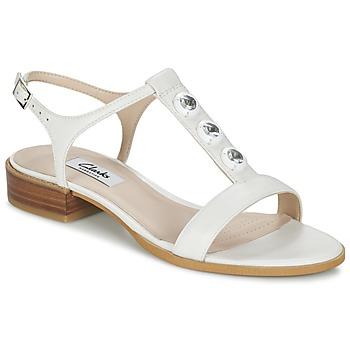 Chaussures Femme Sandales et Nu-pieds Clarks BLISS SHIMMER Blanc