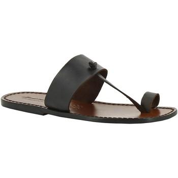 Chaussures Femme Mules Gianluca - L'artigiano Del Cuoio 554 U MORO CUOIO Testa di Moro