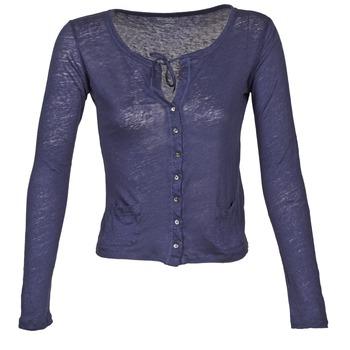 Vêtements Femme Gilets / Cardigans Majestic BATHILDE Bleu