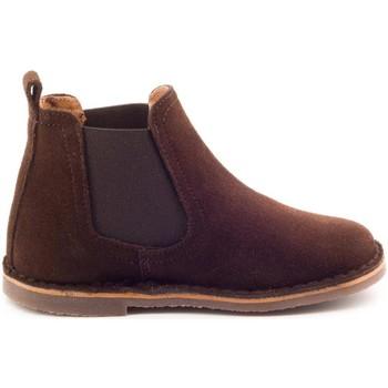 Chaussures Garçon Boots Boni Classic Shoes Boots à enfiler en daim - BENOIT Marron
