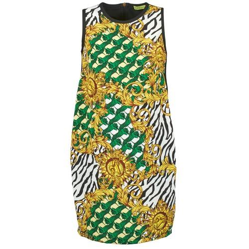 Vêtements Femme Robes courtes Versace Jeans NDM909 BIS Noir / Multicolore