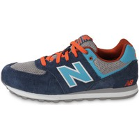 Chaussures Enfant Baskets basses New Balance Kl574 Ocg Bleu/Orange