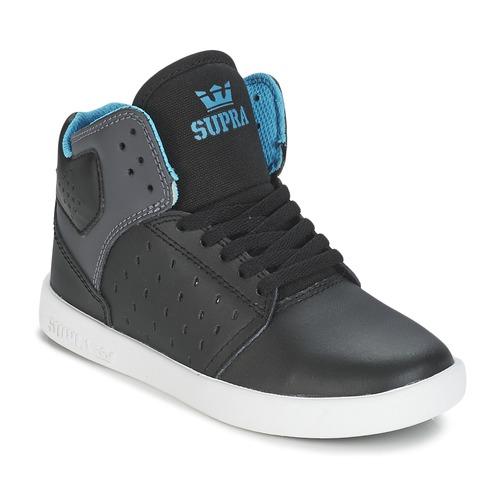 Chaussures Enfant Baskets montantes Supra KIDS ATOM Noir / Gris