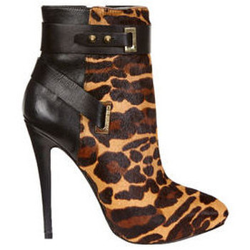 Chaussures Femme Bottines Guess Low Boots Femme Shanday  Leopard Marron