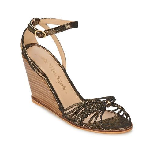 Petite Mendigote COLOMBE Noir / Doré - Livraison Gratuite avec  - Chaussures Sandale Femme