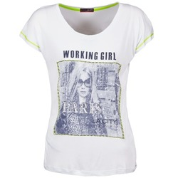 Vêtements Femme T-shirts manches courtes La City TMCD3 Blanc