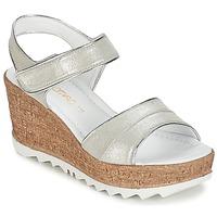 Chaussures Femme Sandales et Nu-pieds Samoa MOJILA Gris / Blanc