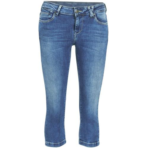 Vêtements Femme Pantacourts Teddy Smith PANDOR COURT COMF USED Bleu medium