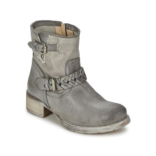 Café Noir Boogry Gris - Livraison Gratuite avec  - Chaussures Boot Femme