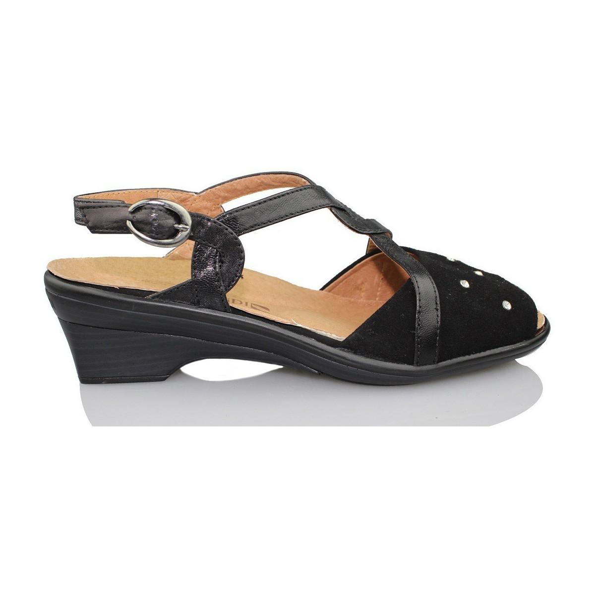 calzamedi orthop dique femme sandale noir chaussures sandale femme 130 20. Black Bedroom Furniture Sets. Home Design Ideas