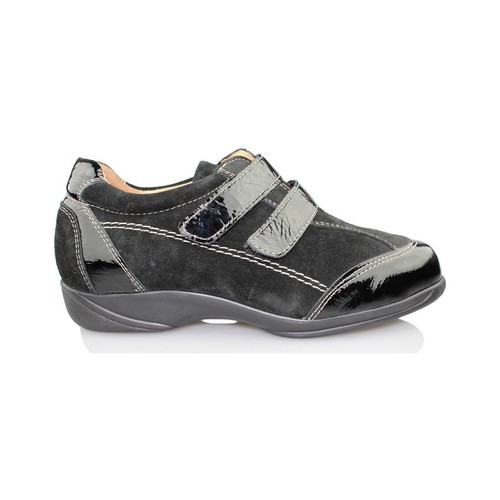 Chaussures Femme Richelieu Calzamedi thérapeutique chaussures Velcro NOIR