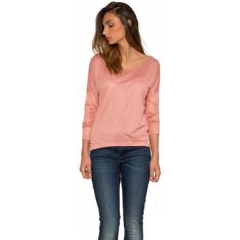 Vêtements Femme T-shirts manches longues Les P'tites Bombes Top  W150204 Blush Rose