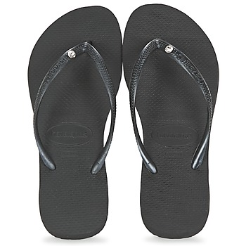 Chaussures Femme Tongs Havaianas SLIM CRYSTAL GLAMOUR SWAROVSKI Noir