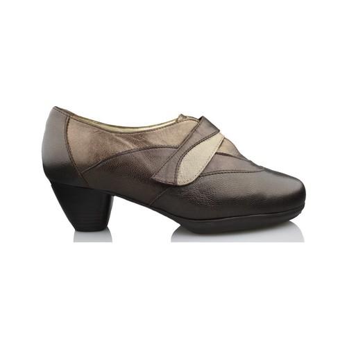 Drucker Calzapedic confortable et large BRUN - Chaussures Escarpins Femme