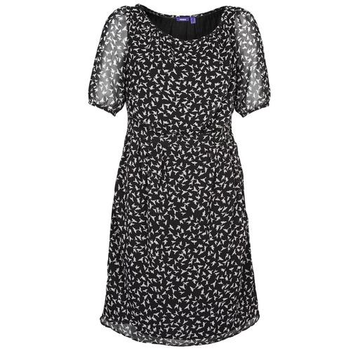 Vêtements Femme Robes courtes Mexx 13LW130 Noir / Blanc