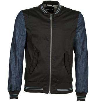Vestes Sisley 2ID2533A9 Noir / Bleu 350x350