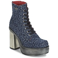 Chaussures Femme Bottines New Rock BOSTA Bleu