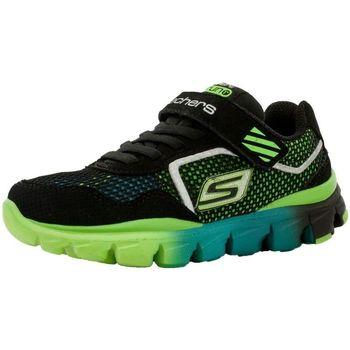 Chaussures Fille Baskets basses Skechers 95676l noir
