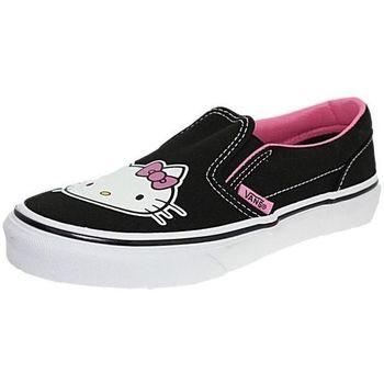 Chaussures Fille Slips on Vans lygl8t noir