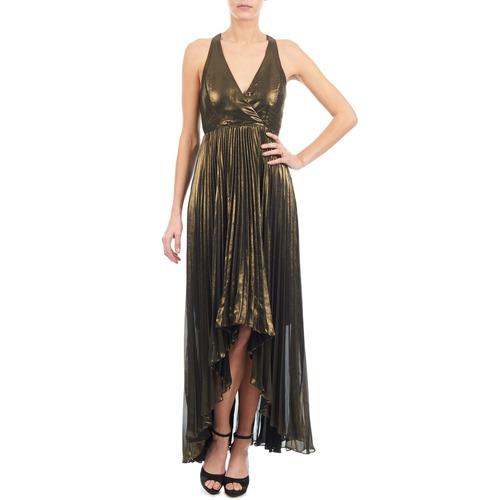 Robes Manoukian Longues Femme 612556 Doré TlF1Jc3K
