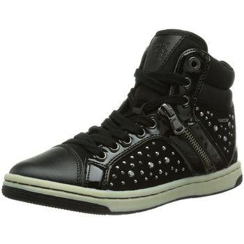 Chaussures Fille Baskets montantes Geox j44l5c noir
