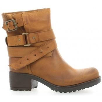 Chaussures Femme Boots Pao Boots cuir nubuck Cognac