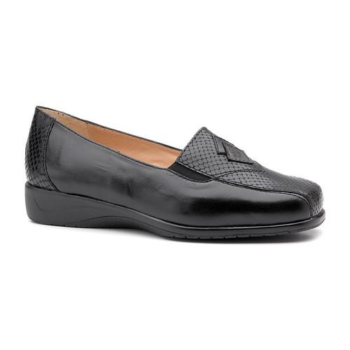 Chaussures Femme Mocassins Drucker Calzapedic de style mocassin de serpent. BLEU