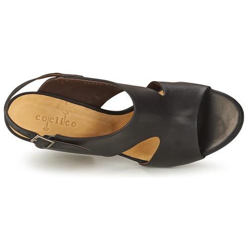 Caspar Femme Noir Sandales pieds Coclico Et Nu Chaussures n0XZwkOP8N
