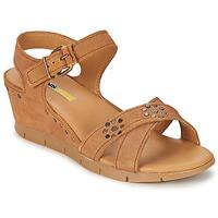 Chaussures Femme Sandales et Nu-pieds Manas  Camel