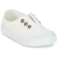 Chaussures Enfant Baskets basses Victoria INGLESA LONA TINTADA Blanc