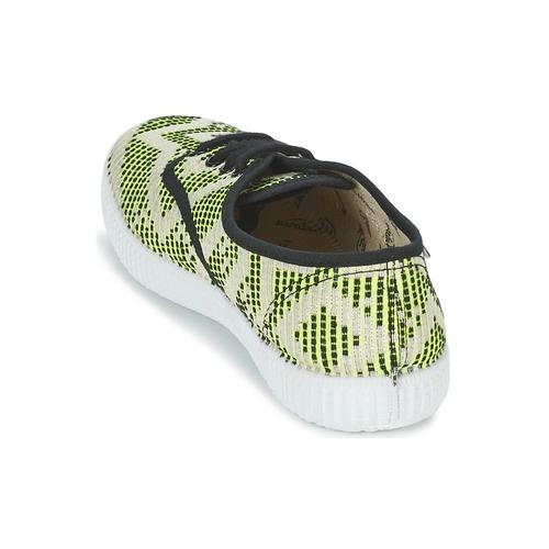 Prix Réduit Chaussures ihjdfh465DHU Victoria INGLES GEOMETRICO LUREX Beige / Citron / Noir