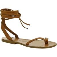 Chaussures Femme Sandales et Nu-pieds Gianluca - L'artigiano Del Cuoio 534 D CUOIO CUOIO Cuoio