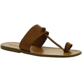 Chaussures Femme Boots Gianluca - L'artigiano Del Cuoio 554 U CUOIO CUOIO Cuoio