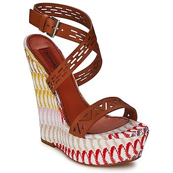 Chaussures Femme Sandales et Nu-pieds Missoni XM015 Marron / Multicolore