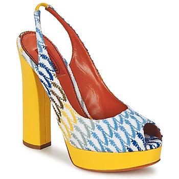 Chaussures Femme Escarpins Missoni XM005 Jaune / Bleu
