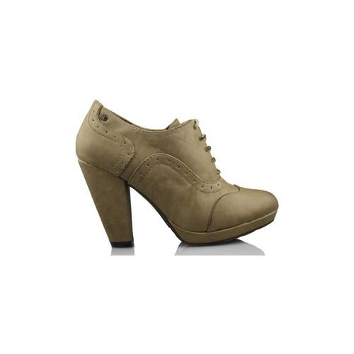 Chaussures Femme Low boots MTNG MUSTANG butin talons BRUN