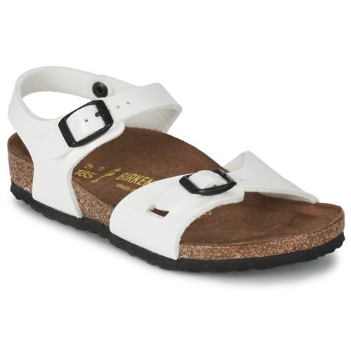 Chaussures Fille Sandales et Nu-pieds Birkenstock RIO Blanc Verni