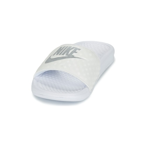 Benassi W BlancArgenté Just It Nike Femme Do Claquettes VUGLSjqzMp
