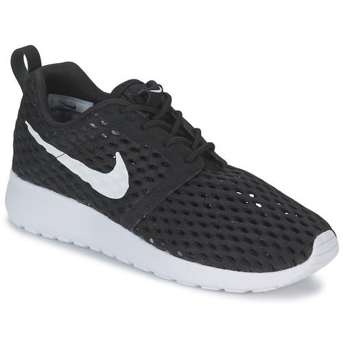 Chaussures Garçon Baskets basses Nike ROSHE ONE FLIGHT WEIGHT BREATHE JUNIOR Noir