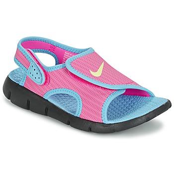 Chaussures Fille Sandales et Nu-pieds Nike SUNRAY ADJUST 4 Rose / Bleu