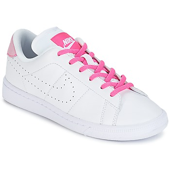 Chaussures Fille Baskets basses Nike TENNIS CLASSIC PREMIUM JUNIOR Blanc / Rose