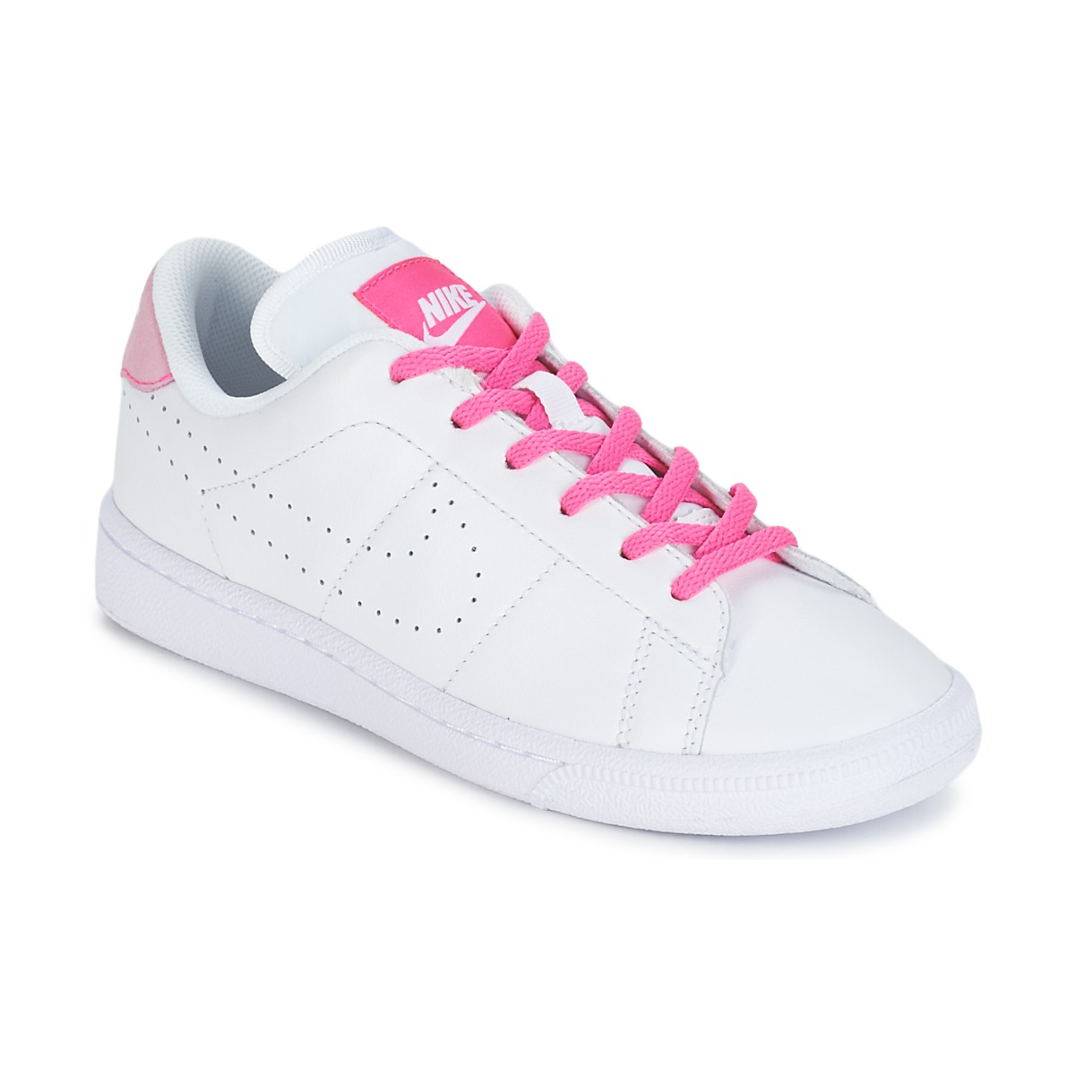 Nike TENNIS CLASSIC PREMIUM JUNIOR Blanc / Rose