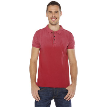 Vêtements Homme Polos manches courtes Deeluxe Polo Homme - GIMS PO - WINE Rouge