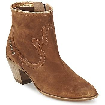 Chaussures Femme Bottines Spiral HEIDI Marron / Doré