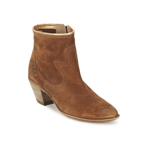 Bottines / Boots Spiral HEIDI Marron / Doré 350x350