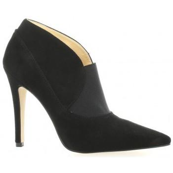 Chaussures Femme Low boots Exit Boots cuir velours Noir